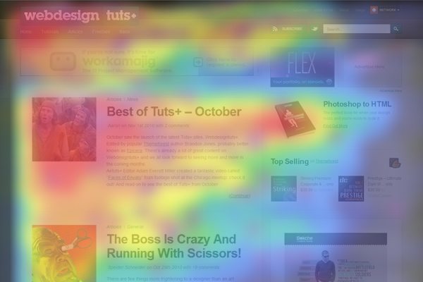 Heatmap - Understanding the F-Layout in Web Design