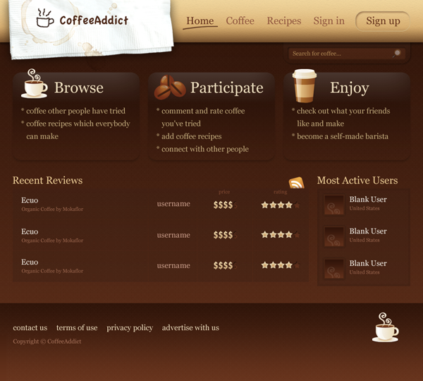 Coffeenatic Web Design Tutorial