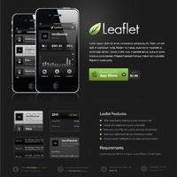 Design a Sleek, Dark Mobile App Website