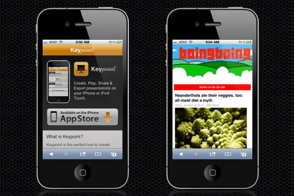 Web Design Trends : Mobile Web Design 1