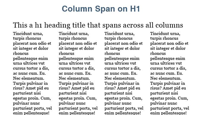 Css3 multiple column layout module b creative for Html table th span 2 columns