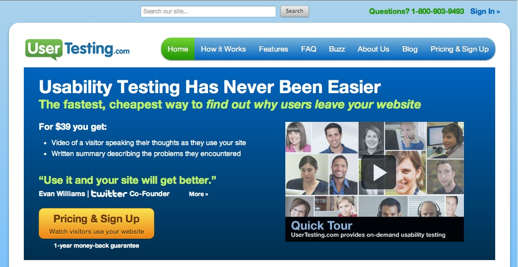 With services like Usertesting.com, usability testing does not need to be time-consuming or expensive.