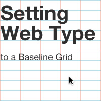 Setting Web Type to a Baseline Grid