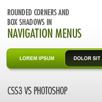 CSS3 vs. Photoshop: Rounded Corners and Box Shadows