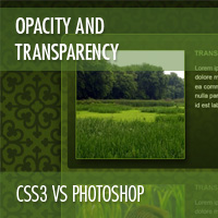 CSS3 vs Photoshop: Opacity and Transparency