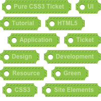 Quick Tip: Create Pure CSS3 Ticket-Like Tags
