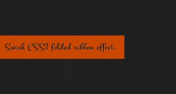 Делаем согнутую ленточку с помощью CSS3 за 5 минут *