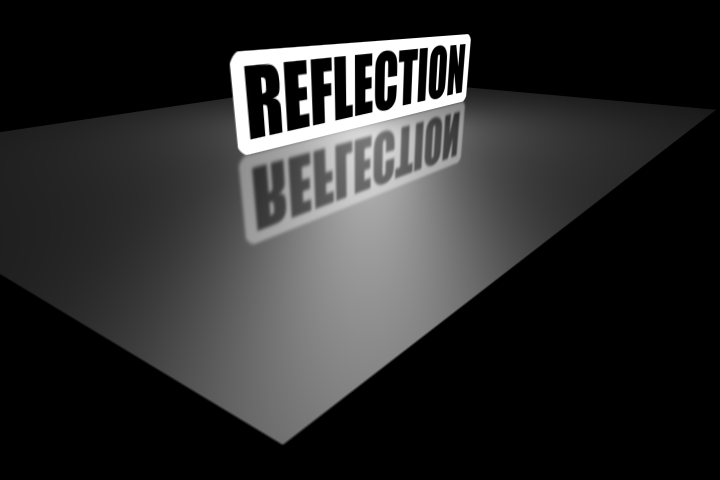 The reflection in 3D...