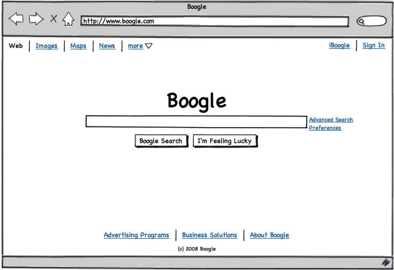 Sample Balsamiq wireframe from the Balsamiq website.