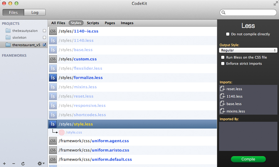 Codekit Project View