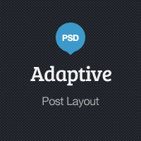 Adaptive Blog Theme: Post Layout