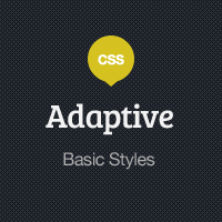 Adaptive Blog Theme: Basic Styles