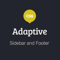 Adaptive Blog Theme: Styling the Sidebar and Footer