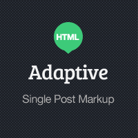 Adaptive Blog Theme: Single Post Markup