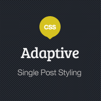 Adaptive Blog Theme: Single Post Styling