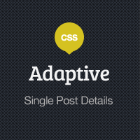 Adaptive Blog Theme: Single Post Details