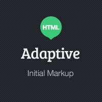 Adaptive Blog Theme: Initial HTML Markup