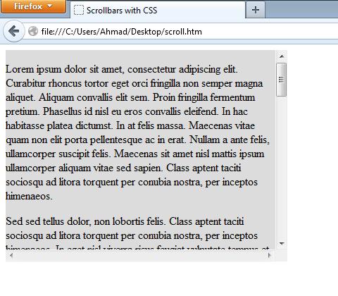firefox CSS ile Yapılmış Scrollbar Tasarımı Yapımı