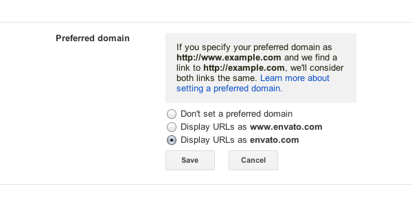 Preferred Domain