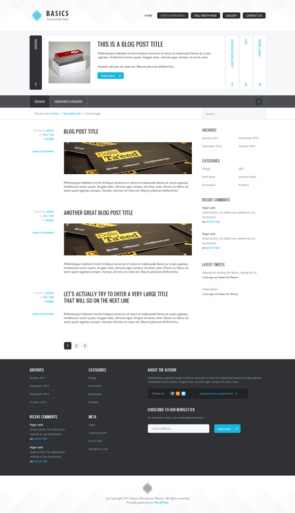 Basics: Create a Clean Magazine & Blog Theme (Day 1: Design) | Webdesigntuts+