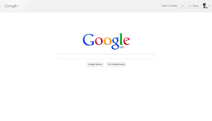 new google homepage ui
