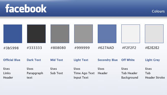 facebook app colors